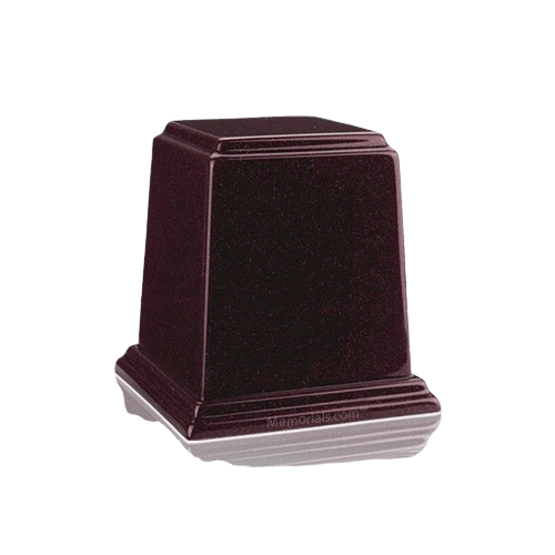 Temple Burgundy Mini Marble Urn