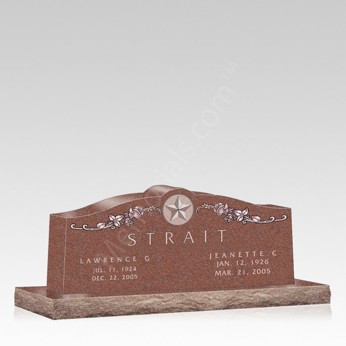 Texas Rose Grave Headstone