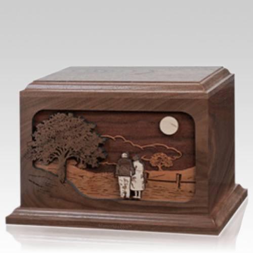 Together Again Walnut Wood Cremation Urn