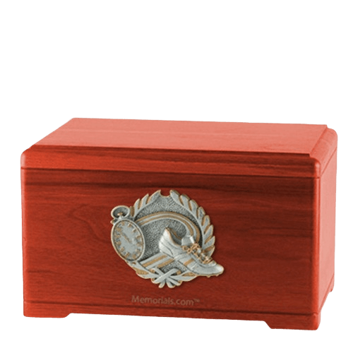 Track Fan Cherry Cremation Urn