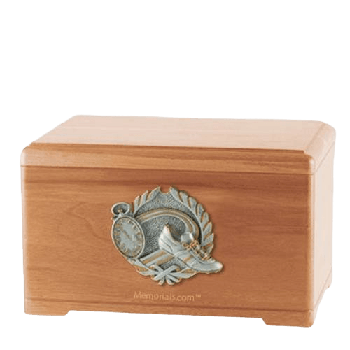 Track Fan Light Cherry Cremation Urn