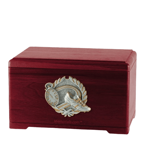Track Fan Rosewood Cremation Urn