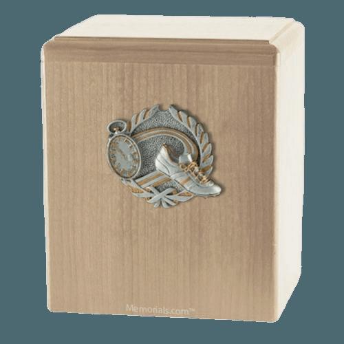 Track Maple Cremation Urn