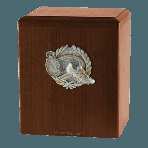 Track Walnut Cremation Urn