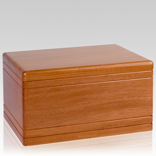 Tradicional Mahogany Wood Urn