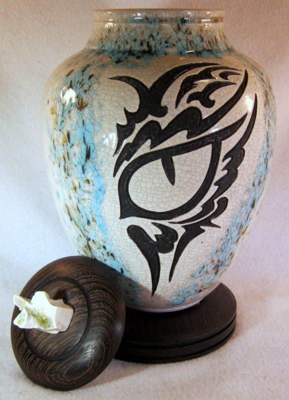Tribal Eye Pet Cremation Urn