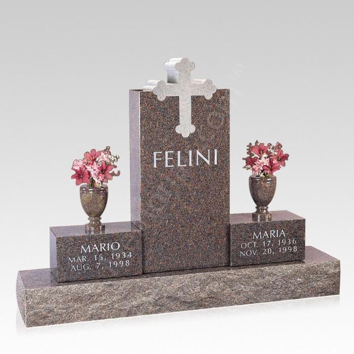 Trinity Cross Upright Cemetery Headstone