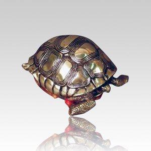 Garden Turtle Small Bronze Urn
