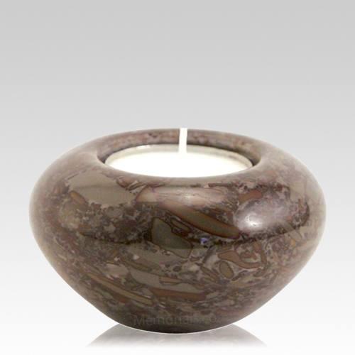 Umber Marble Candle Keepsake Urn