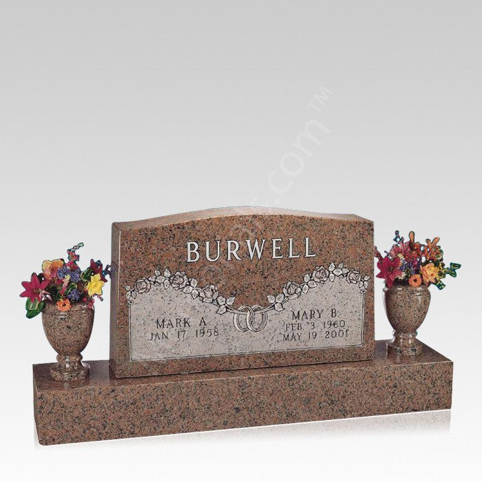 Unity Upright Cemetery Headstone
