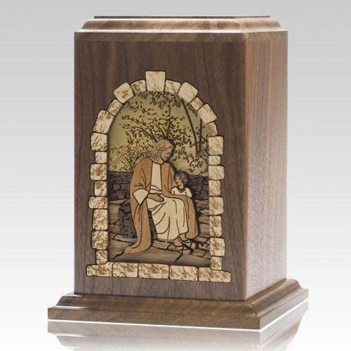 Gods Children Walnut Cremation Urn