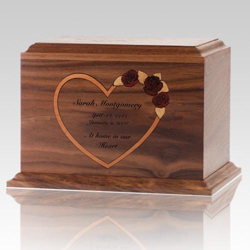 Personalized Heart Walnut Children Infant Cremation Urn