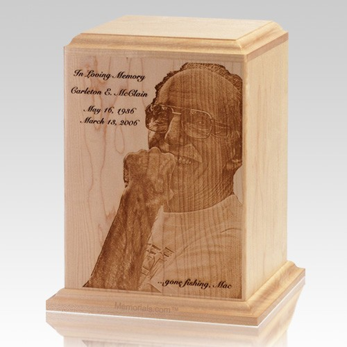 Classic Photo Wood Cremation Urn