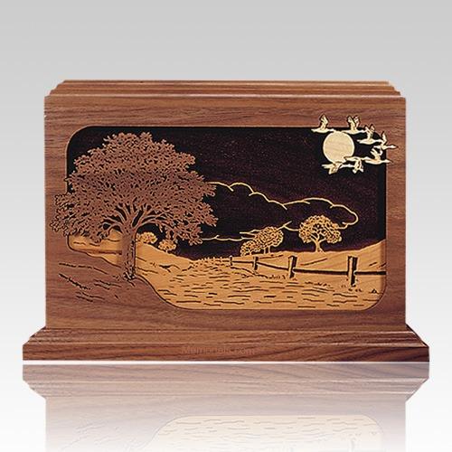 Road Home Walnut Wood Cremation Urn