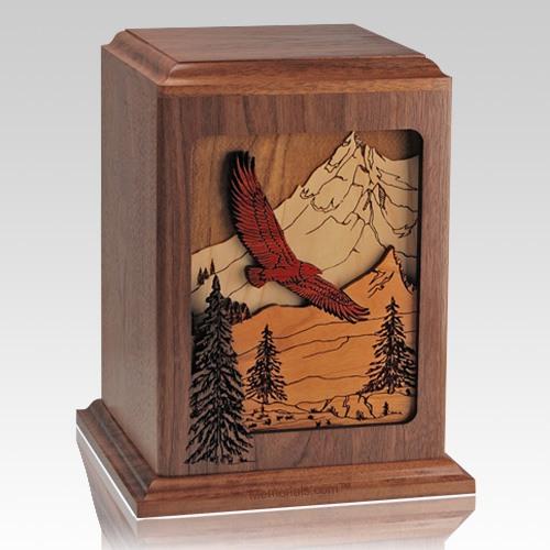 Spirit Soaring Walnut Wood Cremation Urn