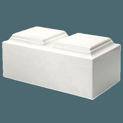 White Marble Companion Urn