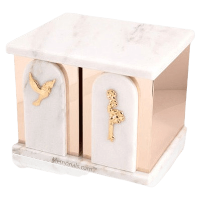 Trinity White Danby Marble Companion Urn
