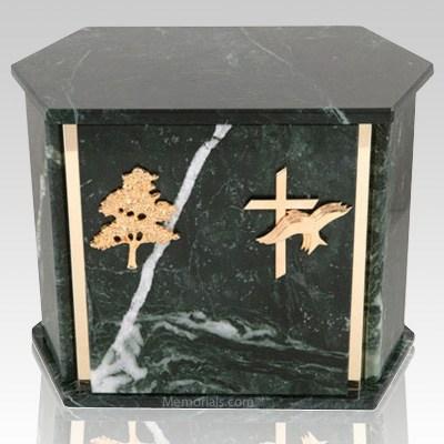 Hexagon Blue Tone Granite Companion Urn