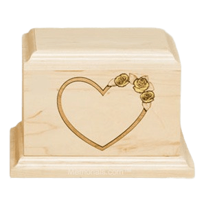 Yellow Rose Maple Wood Cremation Urn