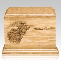 Watching Over You Wood Cremation Urn