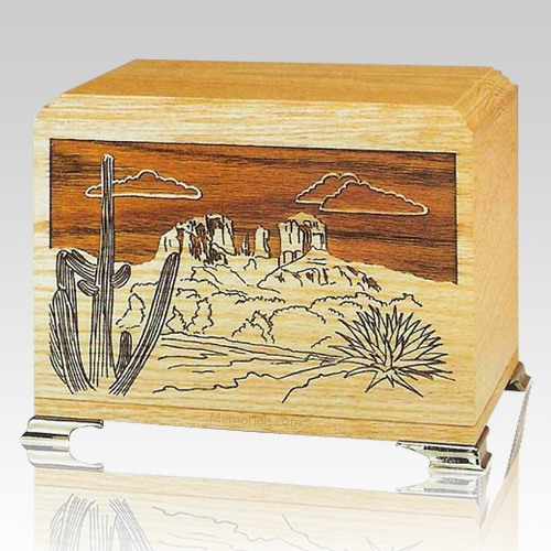 Desert Oak Wood Cremation Urns