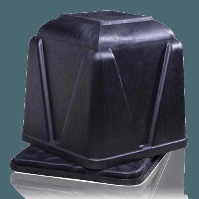Dignified Black Burial Vault