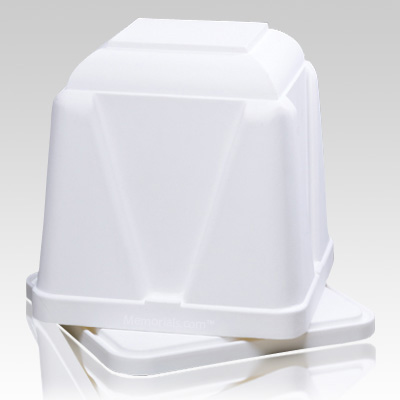 Dignity White Cremation Urn Vault