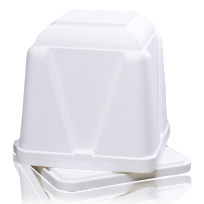 Dignity White Cremation Urn Vault
