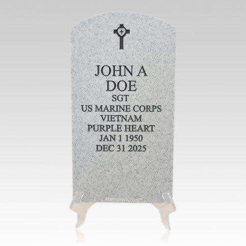 Veteran Grey Headstone Plaque