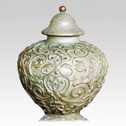 Victorian Bronze Children Cremation Urn