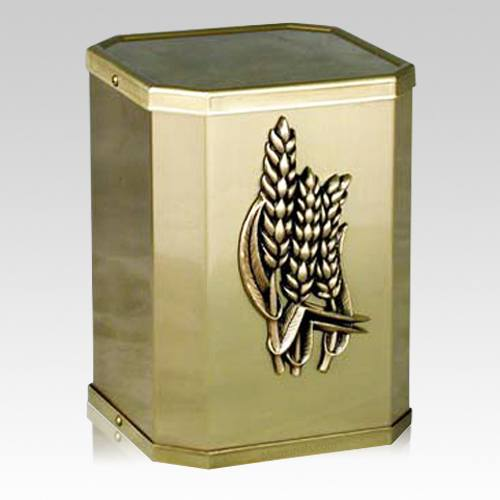 Victorious Wheat Bronze Urn
