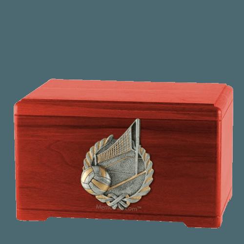 Volleyball Fan Cherry Cremation Urn