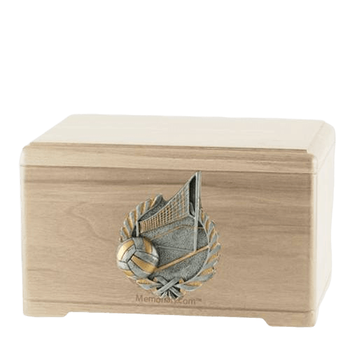 Volleyball Fan Maple Cremation Urn