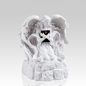 White Angel Religious Small Urn