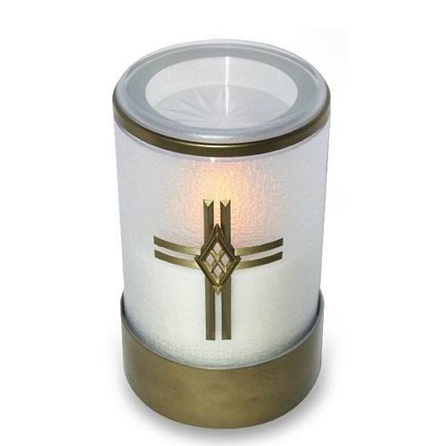 White Cross Small Memorial Candle