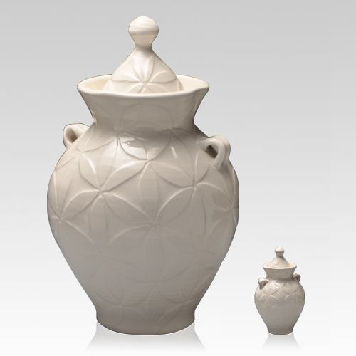 White Dream Pet Ceramic Urns