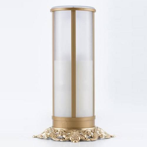 White Filigree Memorial Candle