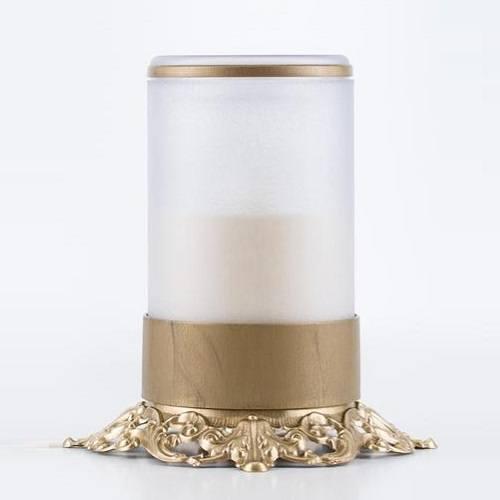 White Ornate Memorial Candle