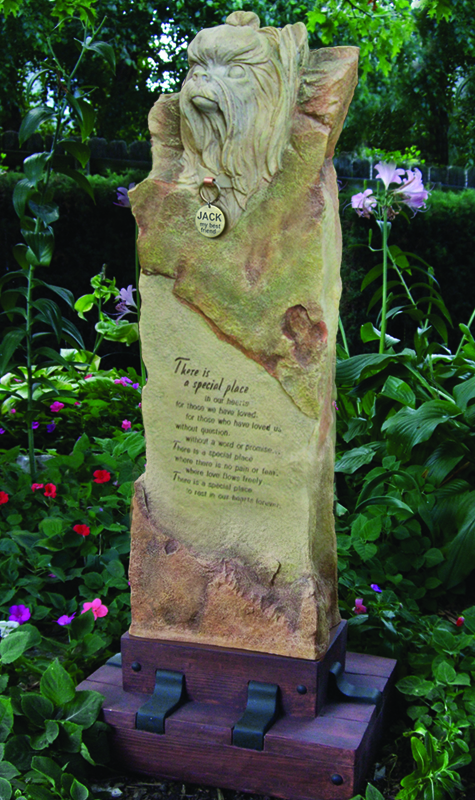Yorkie Large Cremation Memorial