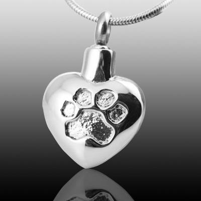 Paw Heart Print Cremation Jewelry