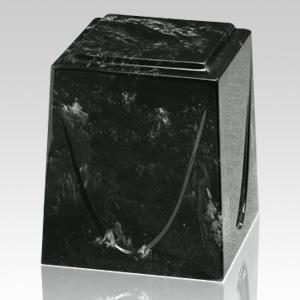Ebony Saturn Marble Cremation Urn