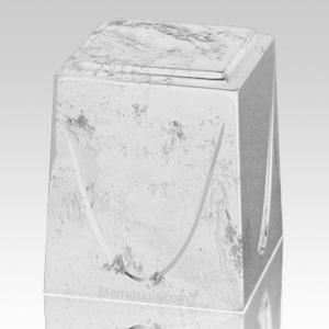 White Saturn Marble Cremation Urn