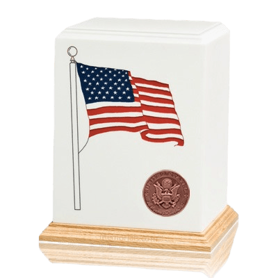 American Flag Air Force Cremation Urn