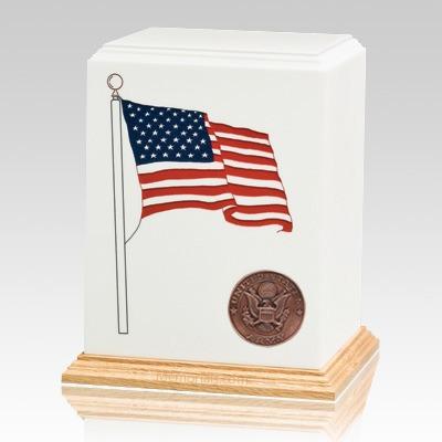 American Flag Army Cremation Urn
