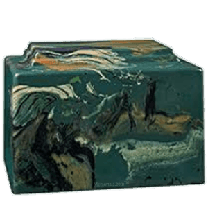 Amity Camouflage Marble Cremation Urn