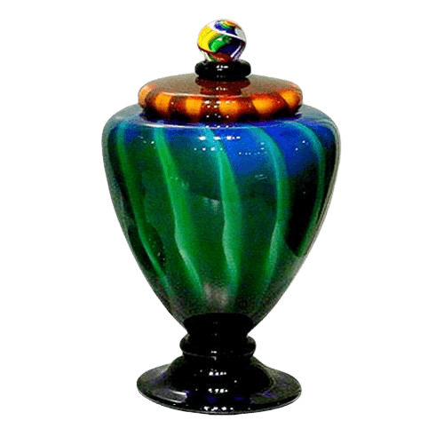 Unique Glazia Glass Urn