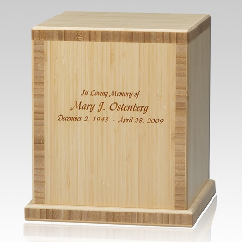 Bamboo Natural Cremation Urn