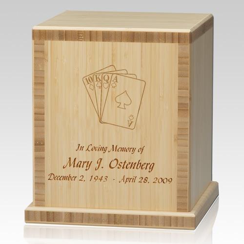 Cards Bamboo Natural Cremation Urn