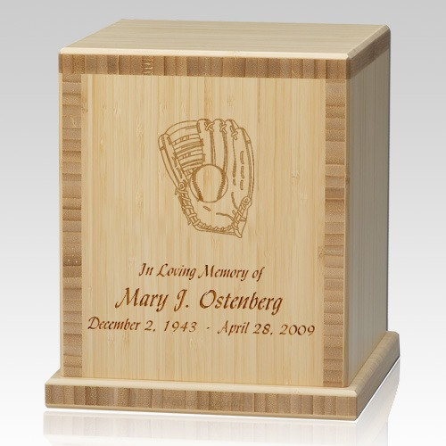 Glove Bamboo Natural Cremation Urn