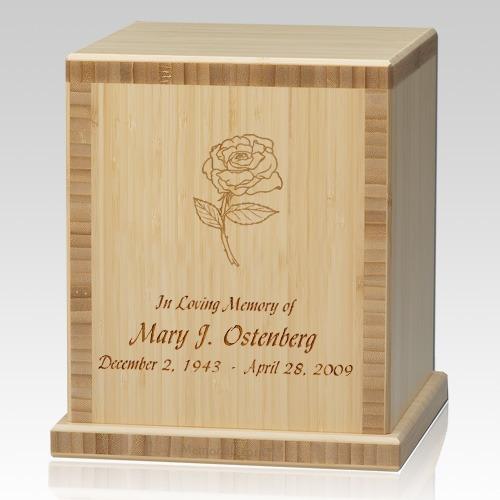 Rose Bamboo Natural Cremation Urn
